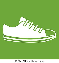 doek, groene, sneaker, pictogram