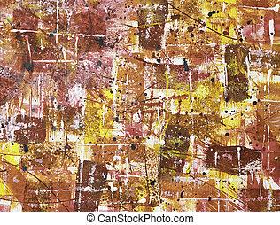 doek, het abstracte schilderen, acryl, plank