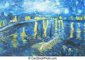 doek, olieverfschilderij