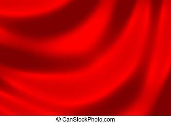 doek, rood