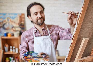 doek, schilderij