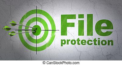 doel, muur, achtergrond, bescherming, bestand, concept: