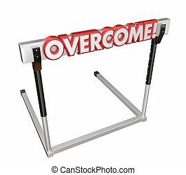 doel, op, sprong, hindernis, uitdaging, overwinnen