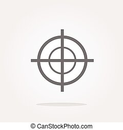 doel, vrijstaand, vector, achtergrond, pictogram, witte