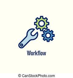 doelmatigheid, het tonen, pictogram, aspect, workflow