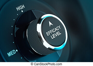 doeltreffendheid, niveau, zelf, -, hoog, doelmatigheid, ...