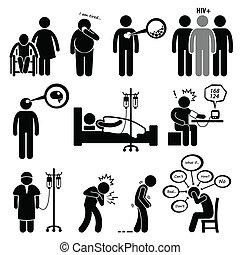 doença, comum, doenças