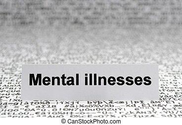 doenças, mental