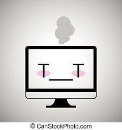 doente, ícone computador