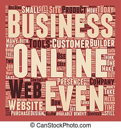 Does Every Business Need A Web Presence text background...