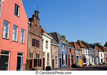Doesburg - Colorfull street in the city of Doesburg, The...