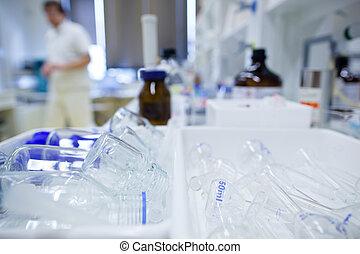 dof), chemie, (shallow, labor