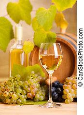dof), vidro, branca, (shallow, vinho
