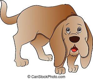 dog., かわいい, ボクサー, ベクトル