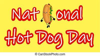 dog., 面白い, ポスター, 国民, 犬, 漫画, 暑い, ラベル, stamp., ∥あるいは∥, 日