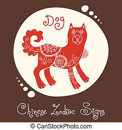 dog., 黄道帯, 中国語, 印