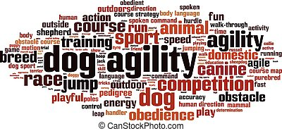 Dog agility-horizon.eps - Dog agility word cloud concept....