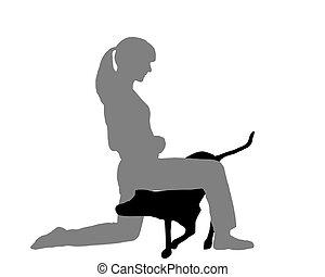 Dog agility (obedience): Command: creep through