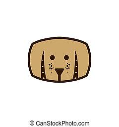 Dog and barrel vector illustration