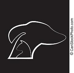 Dog and cat black background logo