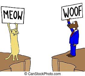 Dog and cat - Cat and dog speak their language