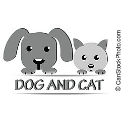Dog and cat logo design