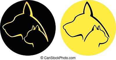 Dog and Cat logotypes