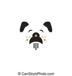 Dog and rocket vector illustration