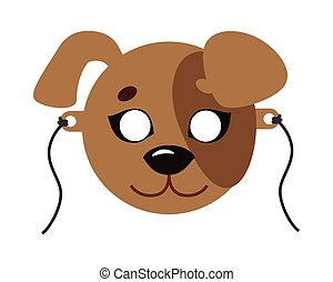 Dog Animal Carnival Mask. Favorite Pet. Festival