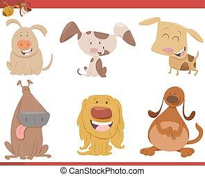 dog animal characters set