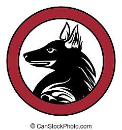Dog animal pet sign tattoo vector.