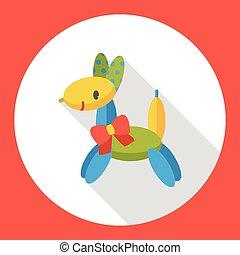 dog balloon style flat icon
