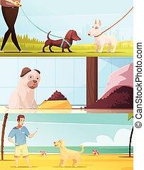Dog Banners Set