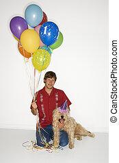 Dog birthday celebration.