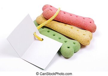 dog biscuits and gift card