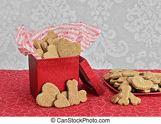 Dog Biscuits for Valentine's Day