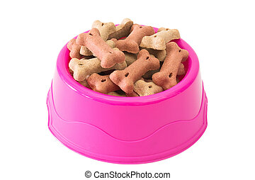 Dog biscuits in a bowl