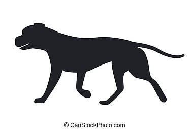 Dog Black Silhouette Profile View Vector Icon