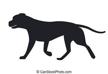 Dog Black Silhouette Profile View Vector Icon