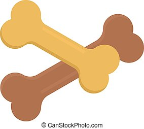 Dog bone animal food meal pet biscuit toy canine snack plate vector.