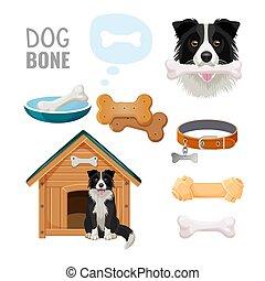 Dog bone promotional poster of market goods