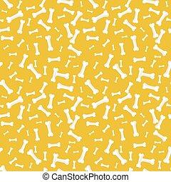 Dog bone Seamless, anilams pattern, vector illustration