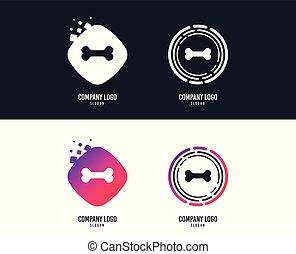 Dog bone sign icon. Pets food symbol. Vector