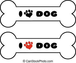 Dog Bone With Text Collection Set