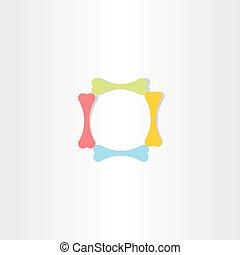 dog bones in circle symbol design