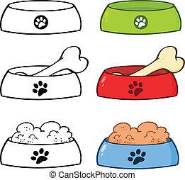 Dog Bowl Cartoon Set Collection