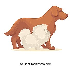 Dog breed collection. Vector Illustration. Isolated on white