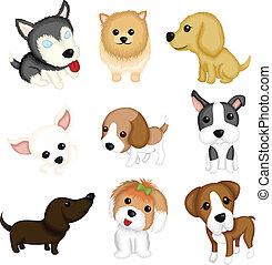 Dog breeds - A vector illustration of different dog breeds