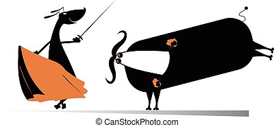 Dog bullfight