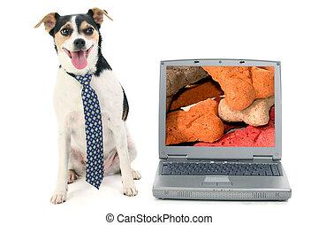 Dog Business Laptop
